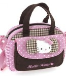 Borsa Bauletto Hello Kitty con tasca e tracolla pink&brown