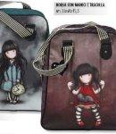 borsa  con manici e tracolla gorjuss stripes gatto nuova collezione 2013