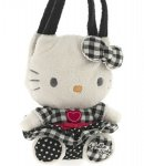 borsa hello kitty mini  plush poupette black  k. i love you