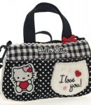 borsa hello kitty flat bag i love you black