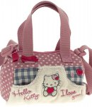 borsa hello kitty  mini bauletto i love you pink