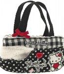 borsa hello kitty mini flat bag i love you black