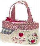 borsa hello kitty mini flat bag i love you pink
