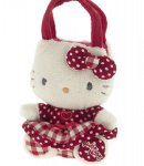 borsa hello kitty mini  plush poupette red  k. i love you