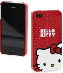 Custodia hello kitty Iphone 4g pois Red