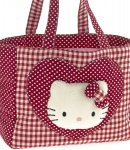 borsa hello kitty shopper L i love you red
