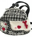 borsa hello kitty shoulder purse i love you black
