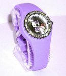 orologio hello kitty silicon diamanti fuxia