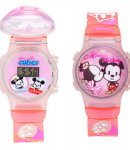 Orologio Disney Curties Minnie e Mickey rosa T0300