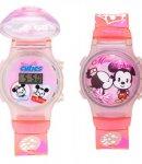 Orologio Disney Curties Minnie e Mickey rosa T0300