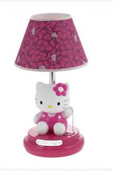lampada da tavolo abat jour hello kitty. Black Bedroom Furniture Sets. Home Design Ideas