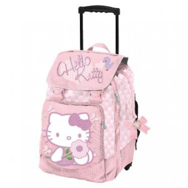 8c12877586 zaino trolley hello kitty scuola con manico allungabile