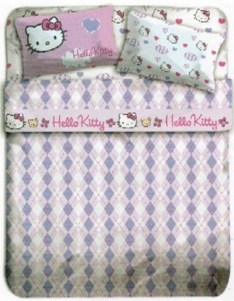 Completo letto da una piazza e mezza hello kitty for Letto completo una piazza e mezza