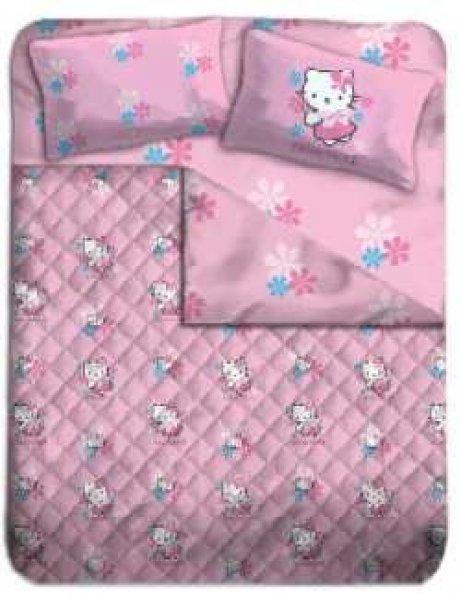 Copriletto Hello Kitty Singolo.Completo Letto