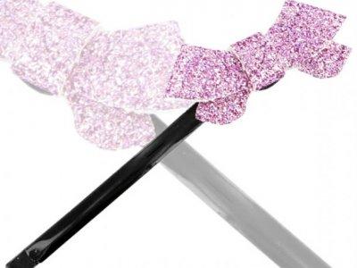 Molletta camomilla s ribbon glitter lillac