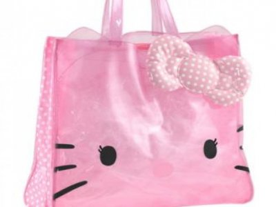 borsa hello kitty sporta M dotty cristal pink