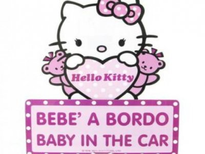 bebe' a bordo hello kitty a ventosa
