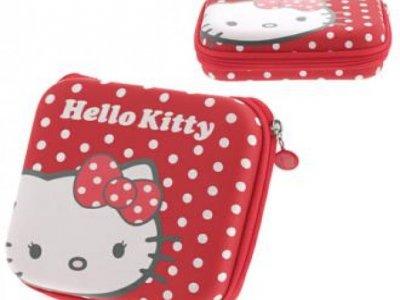 custodia hello kitty rossa porta cd