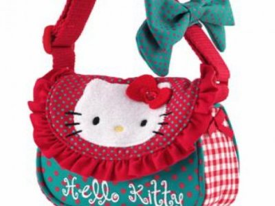 borsa hello kitty tracollina red/green