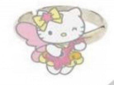 Anello farfalla occhiolino Hello Kitty
