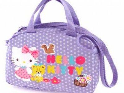 borsa hello kitty bauletto con tracolla dotty lilac
