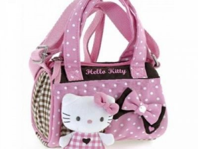 Borsa Bauletto Hello Kitty c-tracolla pink&brown