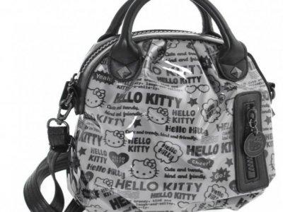Borsa a mano Pop Art Hello Kitty Nero