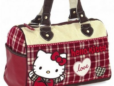 Borsa Bauletto Campus Hello Kitty Rosso