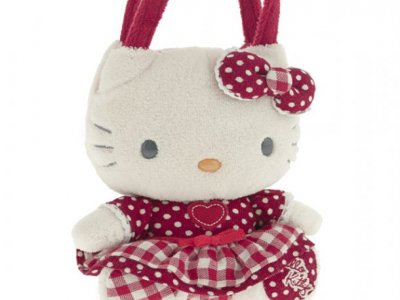 borsa hello kitty plush poupette S red i love you