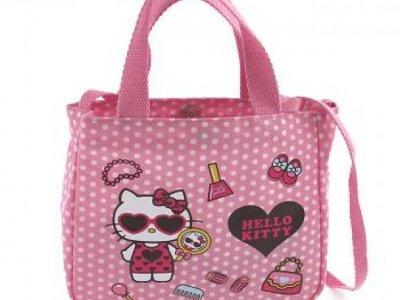 borsa hello kitty S con tracolla dotty d.pink