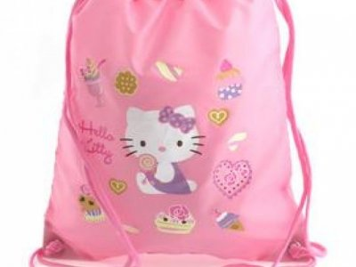 borsa hello kitty a sacchetto L pink