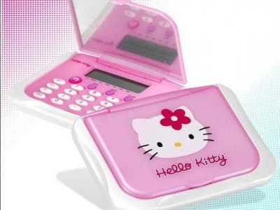 calcolatrice hello kitty con specchio