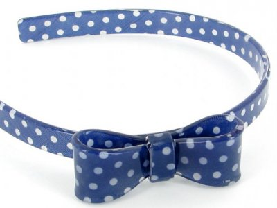 cerchietto camomilla bow wow pois blue