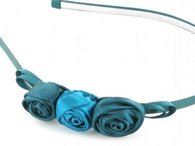 cerchietto camomilla m rose satin blue