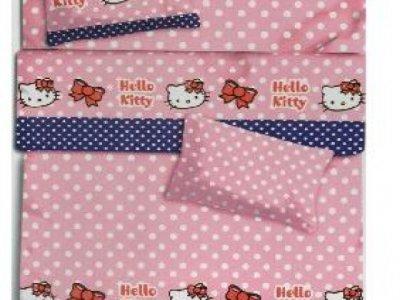 Piumone Hello Kitty 1 Piazza E Mezza.Completo Letto