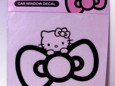 adesivi auto hello kitty