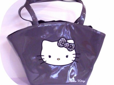 borsa hello kitty powder grey