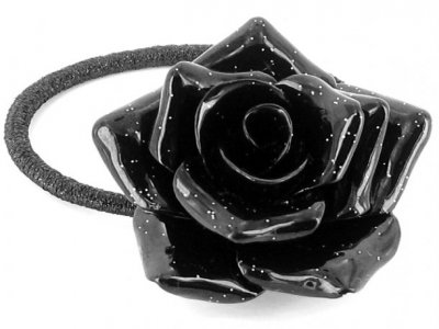 fermacoda camomilla glitter flower black