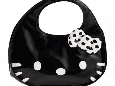 borsa hello kitty icon bag nera