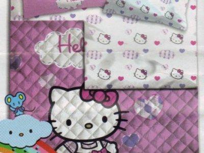 Copriletto Hello Kitty Singolo.Trapunta Hello Kitty Singolo