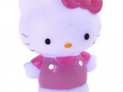 Lampada led 3d 5 colori hello kitty