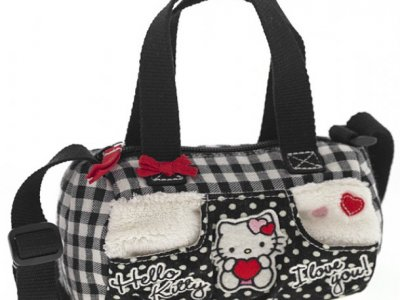 borsa hello kitty mini bauletto i love you black