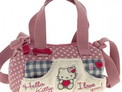 borsa hello kitty  mini bauletto i love you pink