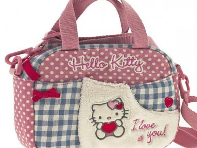 borsa hello kitty mini boston i love you pink