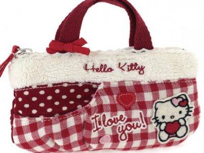 borsa hello kitty mini flat bag i love you red