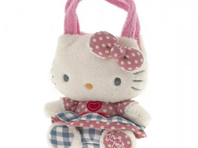 borsa hello kitty mini  plush poupette pink  k. i love you