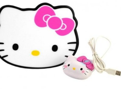 mouse con tappetino hello kitty