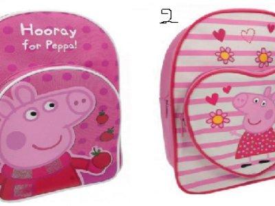 Zainetti con doppia zip Peppa Pig