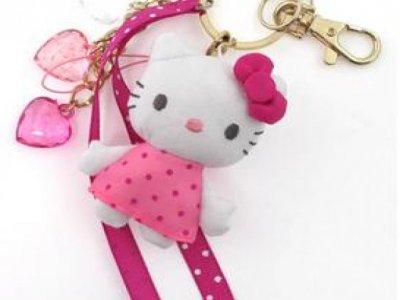 porta chiavi hello kitty pink
