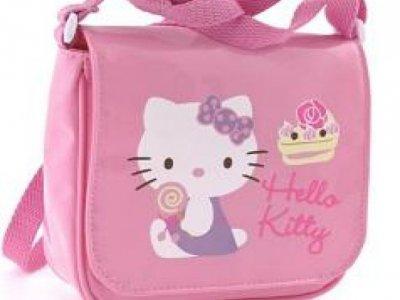 Borsa hello kitty postina pink lucida